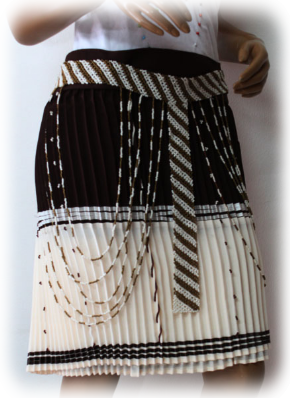 Ladies 3 Piece Beaded Vest-Beaded Pleated Skirt-Beaded Belt-Traaditional Zulu Clothing  By Retail Blis